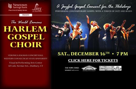 Harlem Gospel Choir-Sat, Dec. 16 WCSU Concert Hall