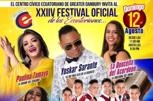 Ecuadorian Festival- Sunday August 12